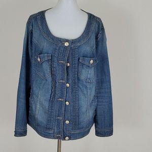 BabyPhat denim jacket size 2x